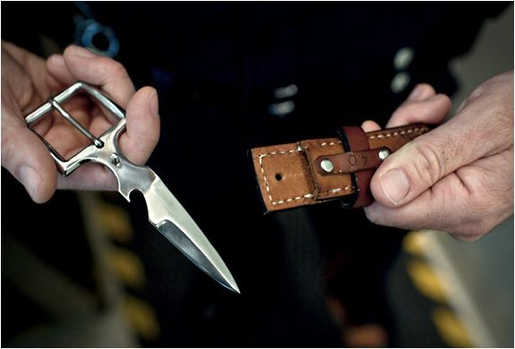 Bowen Knife Co. is dedicated to both style and functionality with its ingenious and stealthy combination of a knife buckle and leather belt.