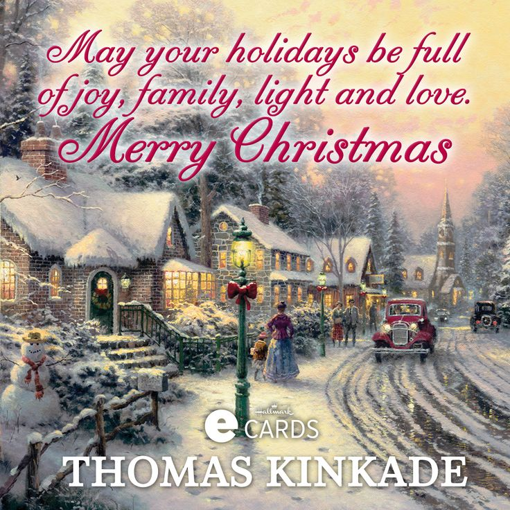 Hallmark39s Holiday Greeting Cards With Thomas Kinkade39s