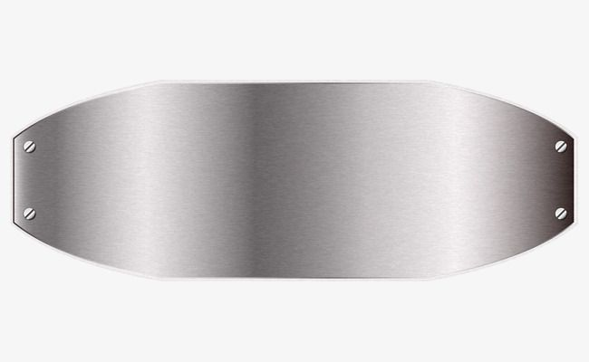 Metal Silver Sign Metal Silver Plate Png