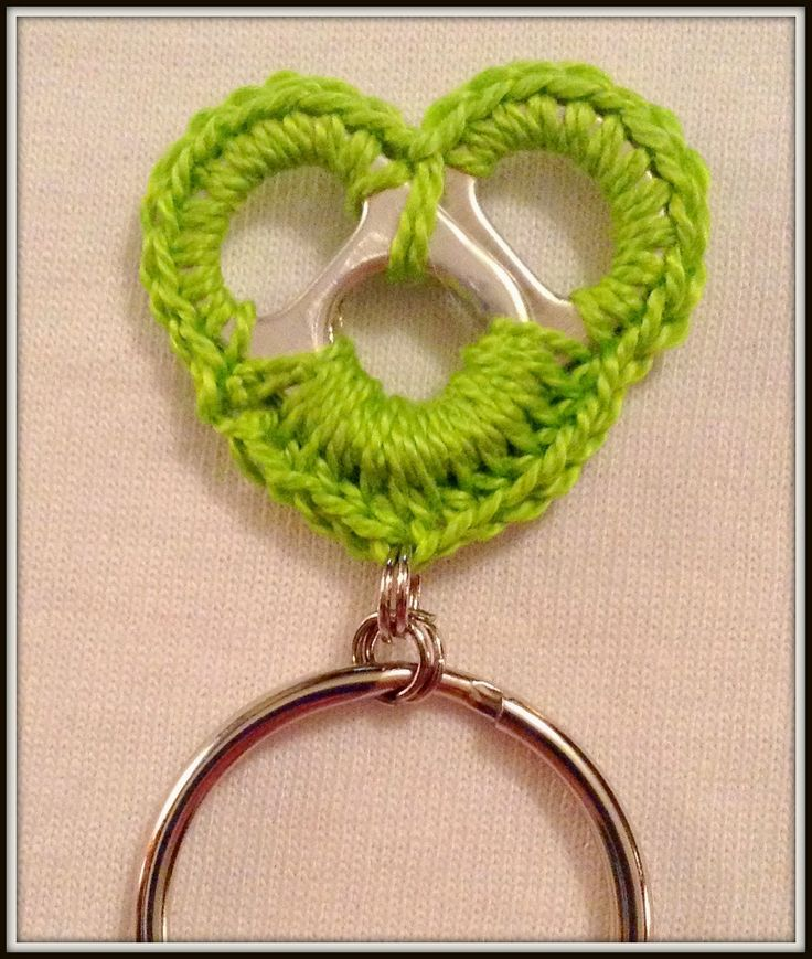 Crochet Soda Tab Key Chain Free Pattern!