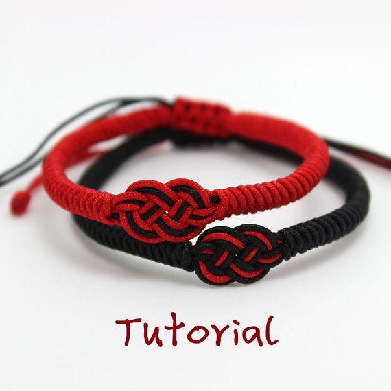 eBook (círculo del amor) - un Tutorial para descargar de instantánea pulsera amistad pulsera/deseo de pulsera de nudo chino patrón - envío gratis