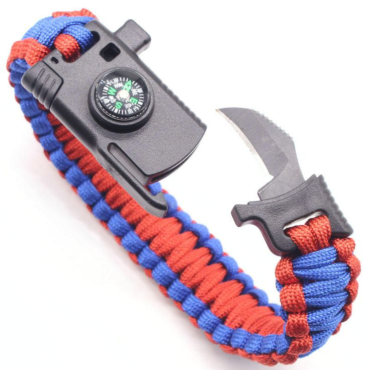 IPRee® 4 In 1 EDC Survival Bracelet Outdoor Emergency 7 Core Paracord Whistle Compass Kit Sale - Banggood.com