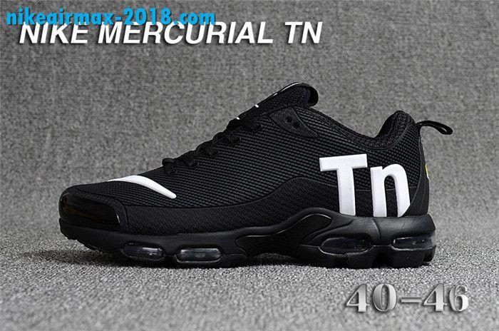 hot sale online fa00c 1a3f3 Fashion Mens Nike Air Max TN KPU For Sale Black White