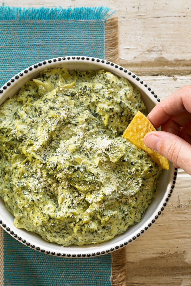 Spinach artichoke dip has a way of inciting controversy. Should it be served cold or hot? Is it lowbrow or classic? Should it be served in a bread bowl or with tortilla chips? Well, the good news is that there are no wrong answers here, only delicious, creamy dip. This particular one is best served hot (or at least room temperature), but it is also acceptable to spread it on crackers after being chilled. (Photo: Michael Kraus for NYT)