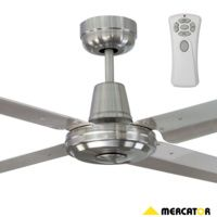 Mercator Swift Fc010124ss Metal Stainless Steel Ceiling Fan Remote Frm87 Sq