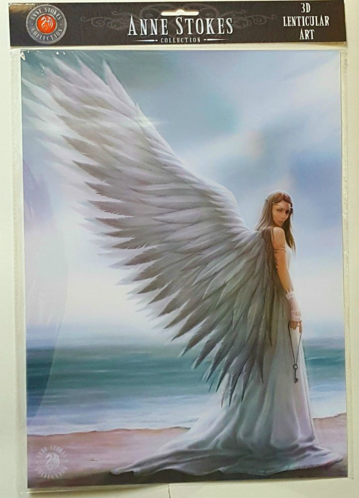 Brand New Licensed 3D Lenticular Art Anne Stokes Spirit Guide Print