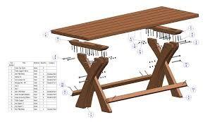 Afbeeldingsresultaat voor tuintafel steigerhout bouwtekening