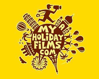 My holiday films Logo Design | More logos http://blog.logoswish.com/category/logo-inspiration-gallery/ #logo #design #inspiration