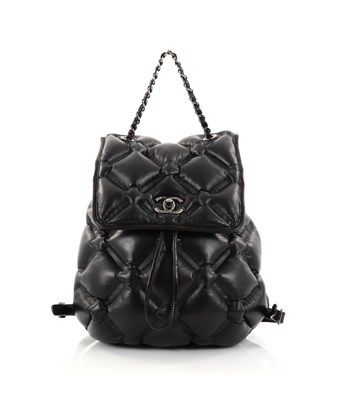 abb59103dbc057 CHANEL PRE-OWNED: CHESTERFIELD BACKPACK QUILTED CALFSKIN MEDIUM. #chanel # bags #backpacks #