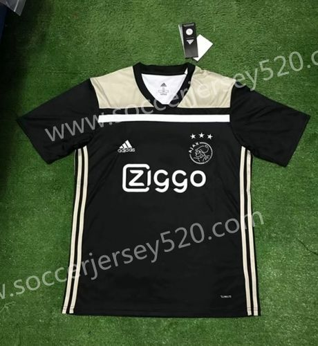 3f4b419c3a7 2018-19 Ajax Away Black Thailand Soccer Jersey AAA | Pinks | Club ...