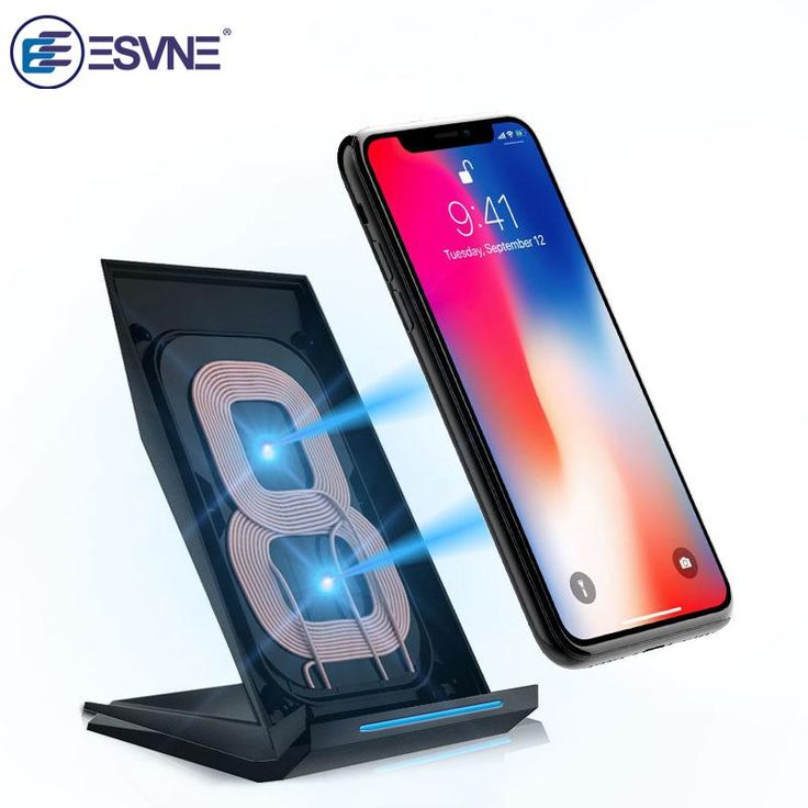 ESVNE Qi Wireless Charger for SAMSUNG S6 GALAXY S7 iPhone 8 plus X mobile phone fast charger stand usb wireless charging qi