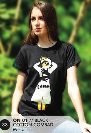 Kaos T Shirt Wanita Casual dan Trendy [ON 01] (Brand Everflow) Free Ongkir