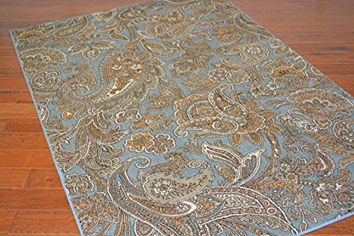 Paisley Design 5x8 Blue Area Rug * Want additional info? Click on the image.