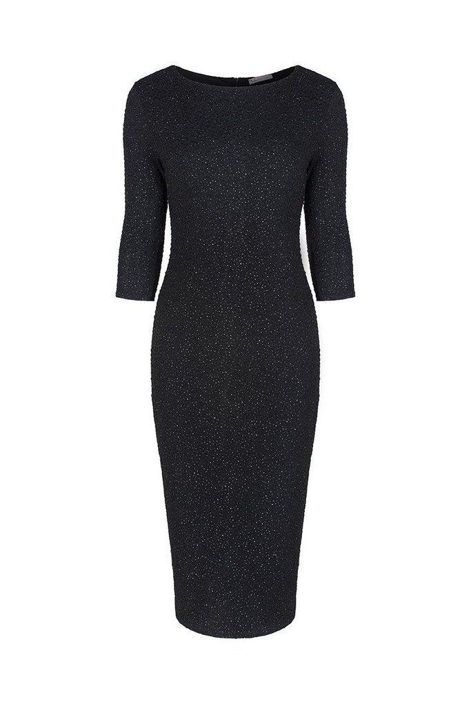 Black Bodycon Glitz Wiggle Dress