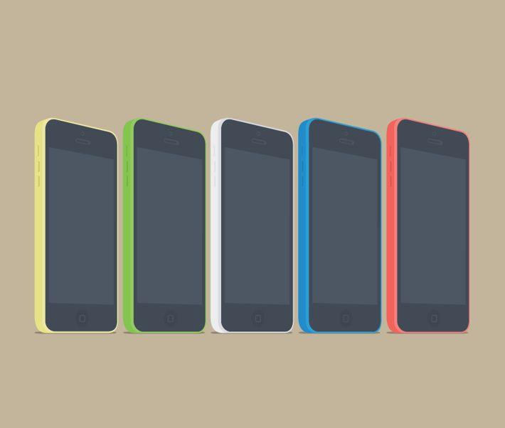 FREE Vector Mokeup Style Phones, Tablets & Screens by Michał Jakobsze, via Behance