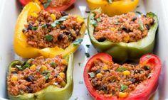 Des Piments Farcis à la Mexicaine, ou comment ajouter de la couleur à son assiette.