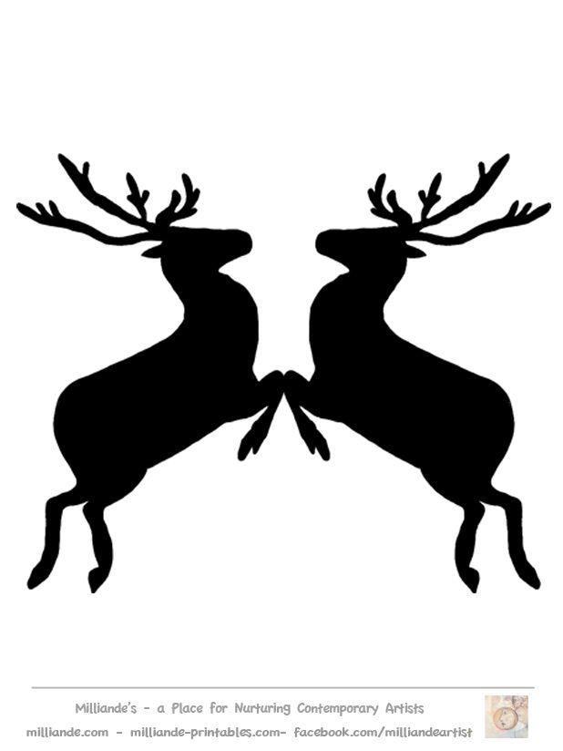 Free Reindeer Clipart Reindeer Silhouette Template At