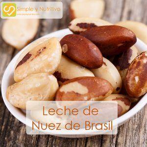 LECHE DE NUEZ DE BRASIL – Simple y Nutritivo