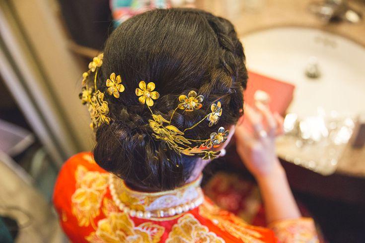 Wedding Photography / Toronto photographer / Chinese Wedding Hairstyles / www.wilsonhophotography.com