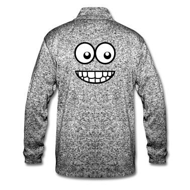 Veste polaire pour hommes Visage comique drôle (Crazy & Cool) - Smiley #cloth #cute #kids# #funny #hipster #nerd #geek #awesome #gift #shop  Melted Sugar, Melted Nude, Melted Peony & Melted Villian