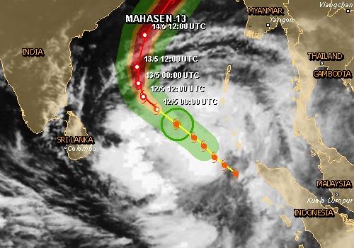 Pakistan Weather Forecast (PWF): Tropical Cyclone Mahasen hit Bangla coast