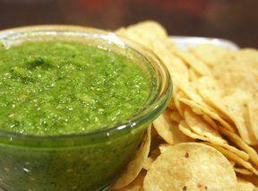 Bright Green Salsa Recipe from RecipeTips.com!