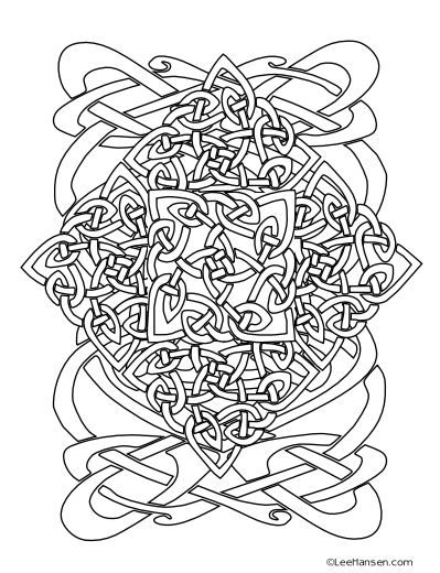 Complex Celtic Coloring Page Design Or Is It A Knot