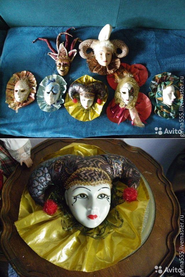Купить Винтажные шутовские маски Итальянская коллекция - шутовские маски, итальянский винтаж, фарфор, керамика