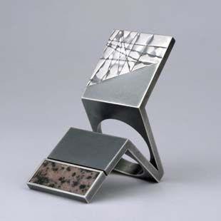 Ring | Helfried Kodré. Silver and Rhodolite