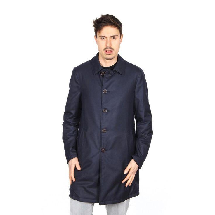 Dark Blue 50 IT - 50 US Giorgio Armani mens long coat SSL09W SS950 922
