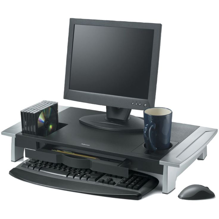 Computer monitor lift riser cup holder stand viewing angle - Elevador monitor ikea ...