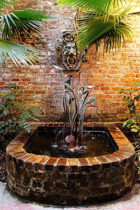 courtyard fountain in Savannah
