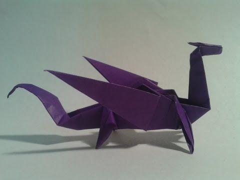 Como hacer un dragón de papel (origami) - YouTube