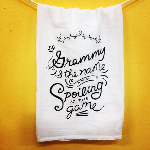 Make Your Kitchen Smile — Grammy is the Name Towel