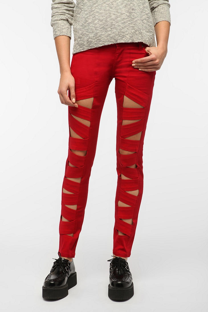 Tripp NYC Z-Cut Jean - Red  #UrbanOutfitters