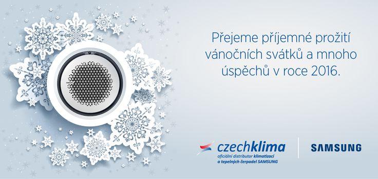 Hřejivou atmosféru vánočních svátků, klid a pohodu v kruhu těch nejbližších vám přeje Czechklima!  #Klimatizace #TepelnaCerpadla #Samsung #KlimatizaceSamsung #Czechklima