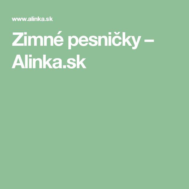 Zimné pesničky – Alinka.sk