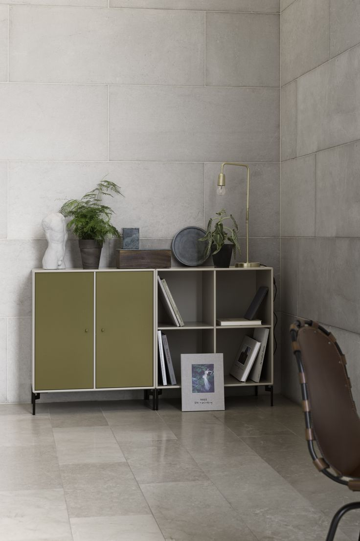 PAIR – sideboard with cabinet and shelving.