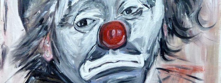 BN, Peintre au profit de l'association des malades de Rendu Osler (maladie rare). Le clown triste.