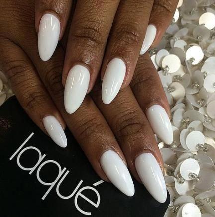 nails almond white posts 21 ideas almondacrylicnails
