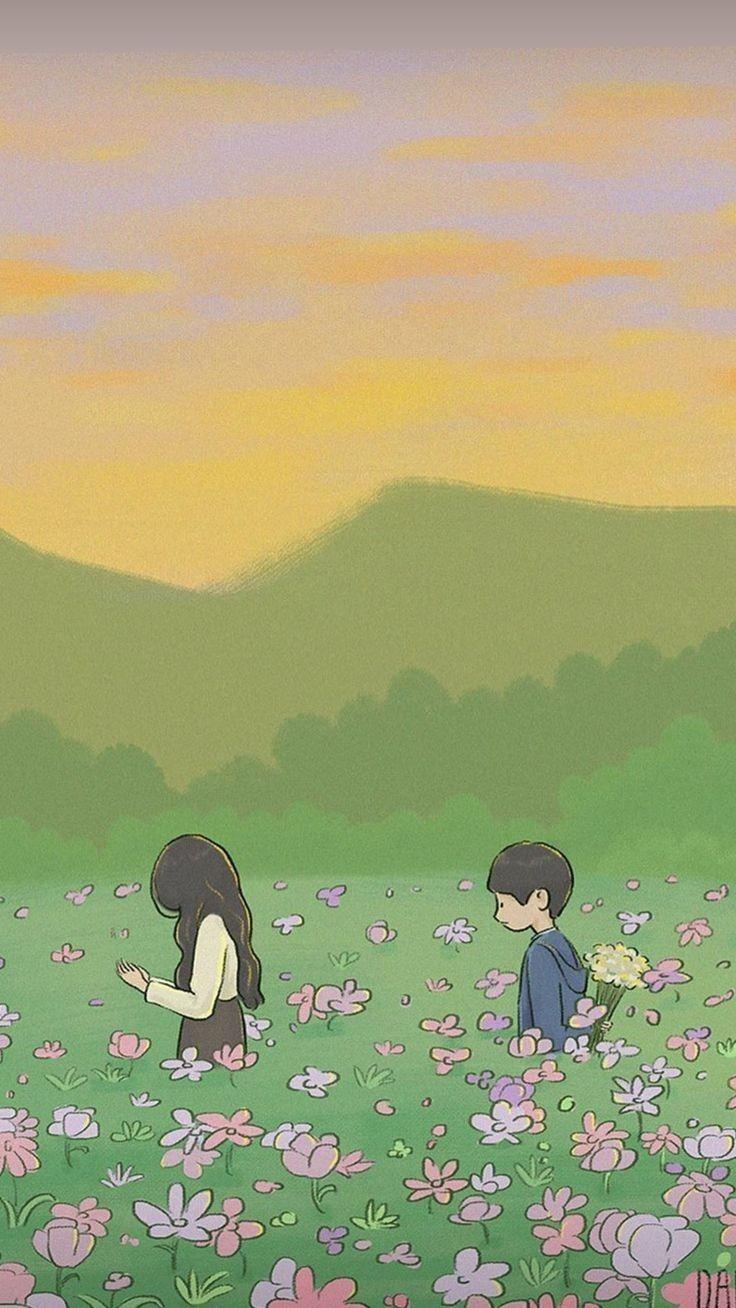 It S Okay To Not Be Okay Wallpaper Cute Cartoon Wallpapers Korean Art Cartoon Wallpaper