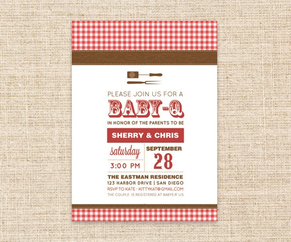 19 best Jack and Jill Baby Shower images on Pinterest A girl - bbq invitation template
