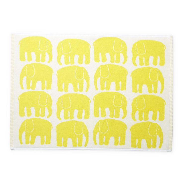 Finlayson Elefantti Yellow Hand Towel