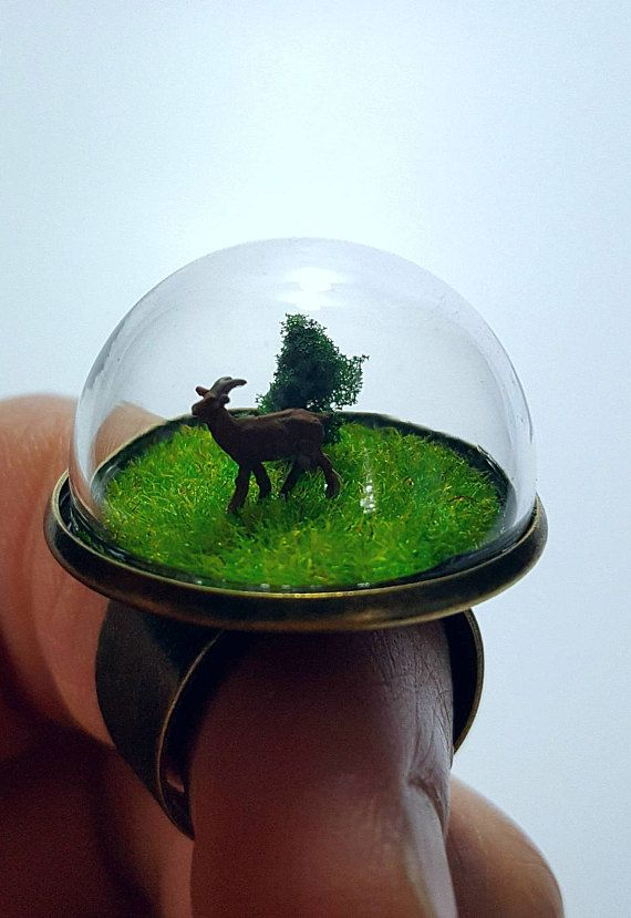 Mini Terrarium Ring Goat  Fast and free shipping to the US and Canada!