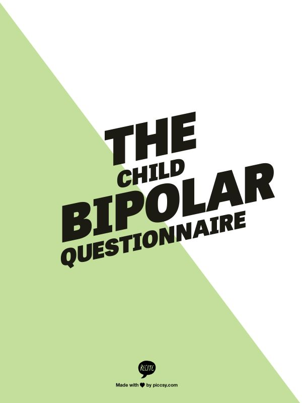 "The Child Bipolar Questionnaire - ""The unique feature of this 65 question screening instrument is that it collects information not only on the symptoms of bipolar disorder, but for many other disorders considered co-morbid to bipolar disorder Repinned by  SOS Inc. Resources  http://pinterest.com/sostherapy."