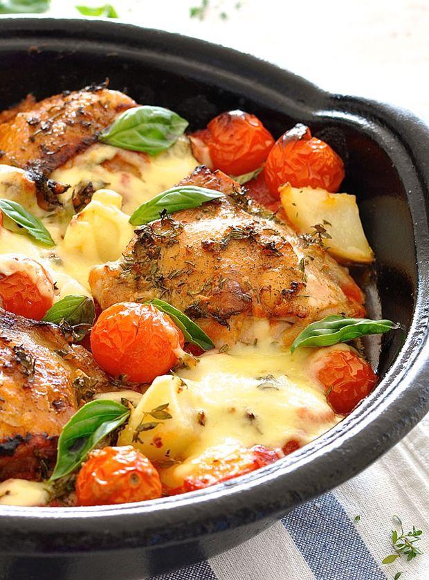 Italian Baked Chicken with Potatoes and Cherry Tomatoes Recipe - RecipeChart.com