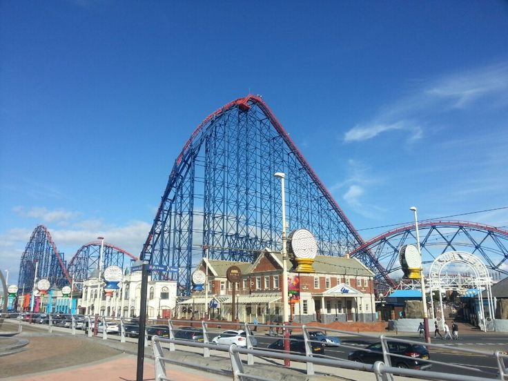 Blackpool Pleasure Beach, one of the oldest and most famous theme parks in England.