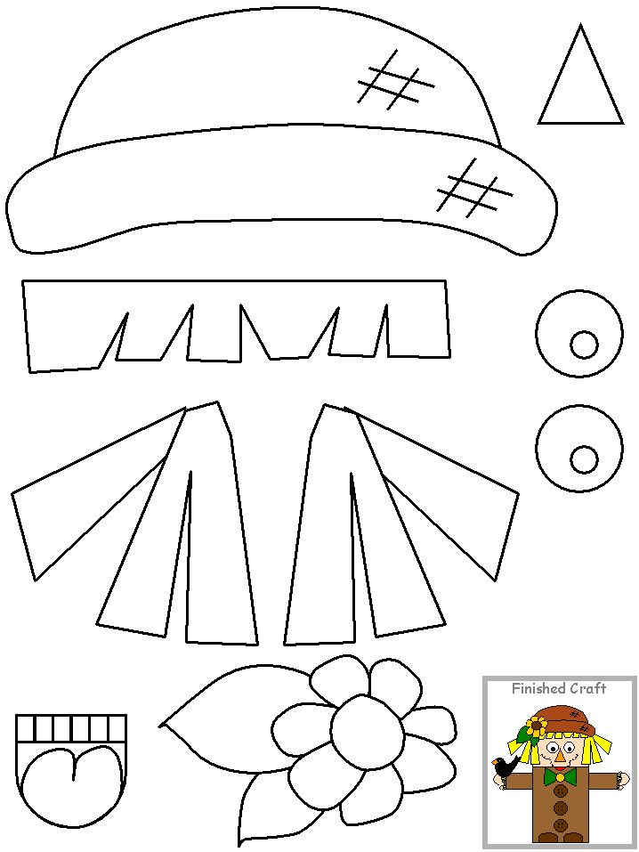 scarecrow template preschool 1000 images about scarecrow theme on pinterest fall scarecrows paper bags and fall crafts 8729