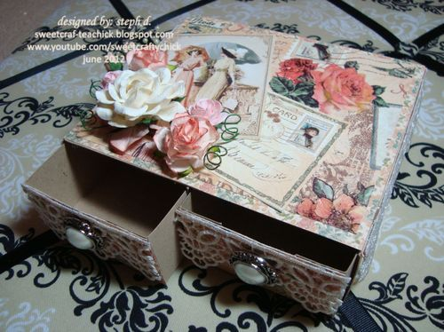 <3: Altered Boxes, Beautiful Matchbox, Cardstock Drawers, Graphic45, Altered Matchbox, Boxes Ideas, Cereal Boxes, Altered Crafts, Business Ideas