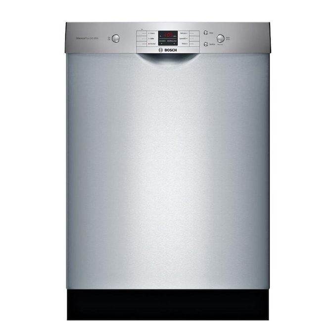Bosch 100 50 Decibel Front Control 24 In Built In Dishwasher Stainless Steel Energy Star Lowes Com Built In Dishwasher Steel Tub Bosch